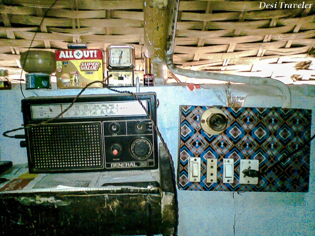 Old radio in a rural house