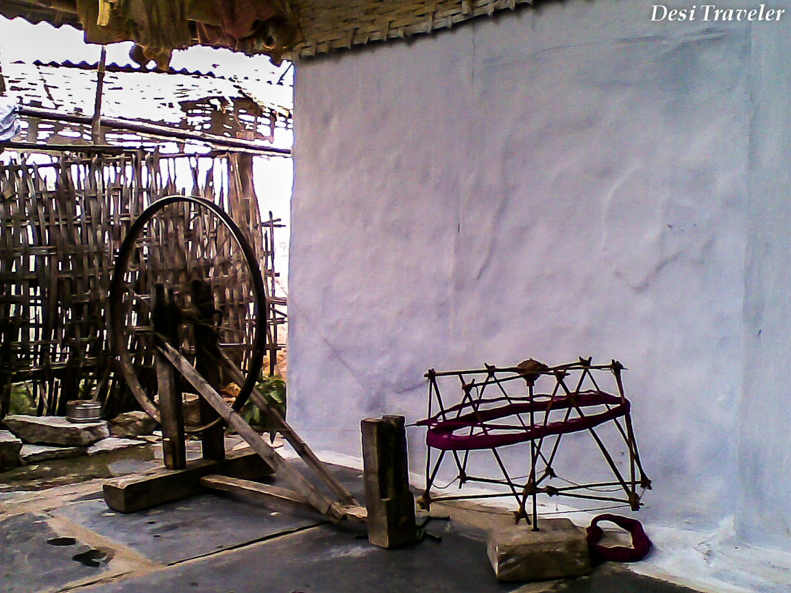 Charkha or spinning wheel