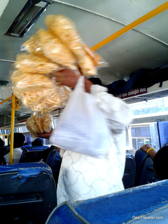snacks on sale in Apsrtc bus