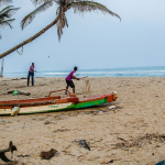 Beach Cricket in Pondicherry