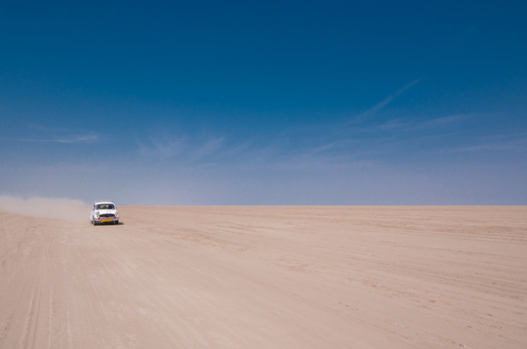 ambassador car in rann of kutch gujarat