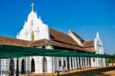 An Old Portuguese Church in the backwaters of Champakulam Alleppey