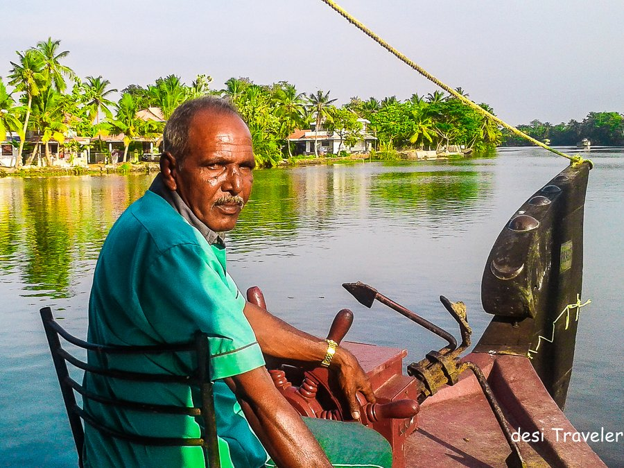 Captain of Houseboat in Alleppey backwaters Kerala