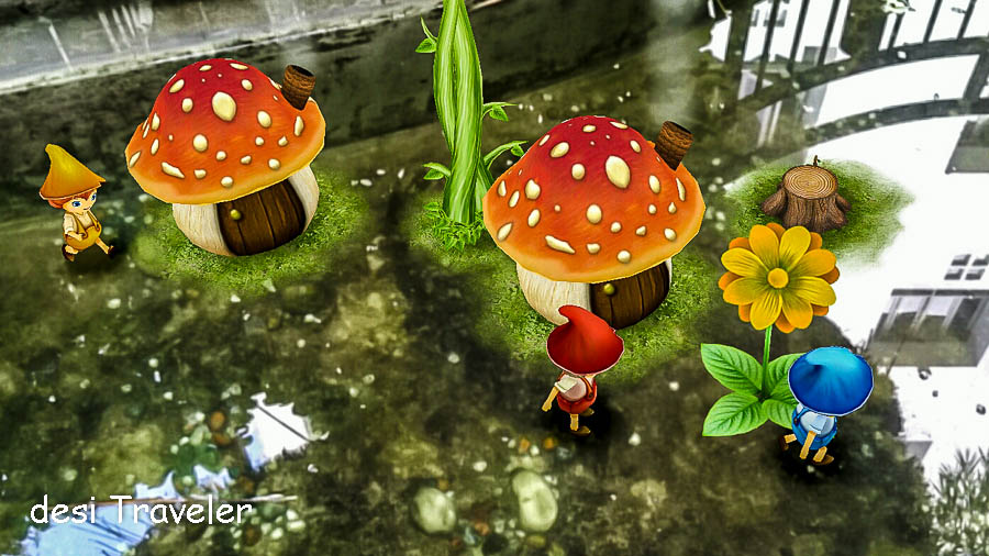 Fairy tale mushrooms elfs