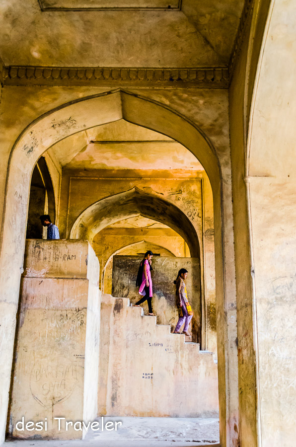 Stairs Golconda fort Graffiti