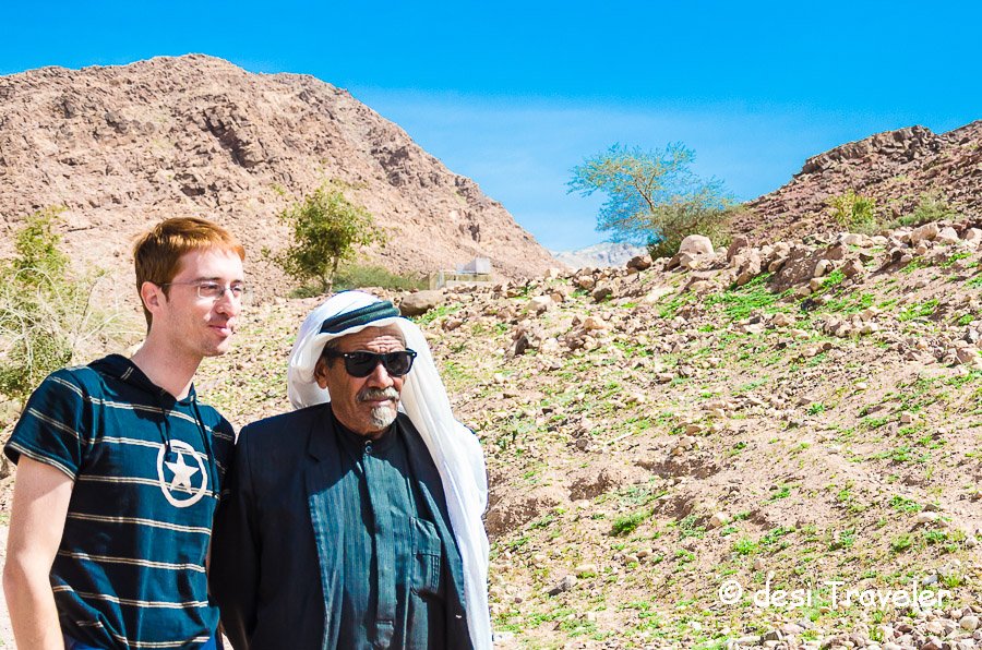 Feynan Eco Lodge Bedouin elder with Fabio Nodari Italian photographer