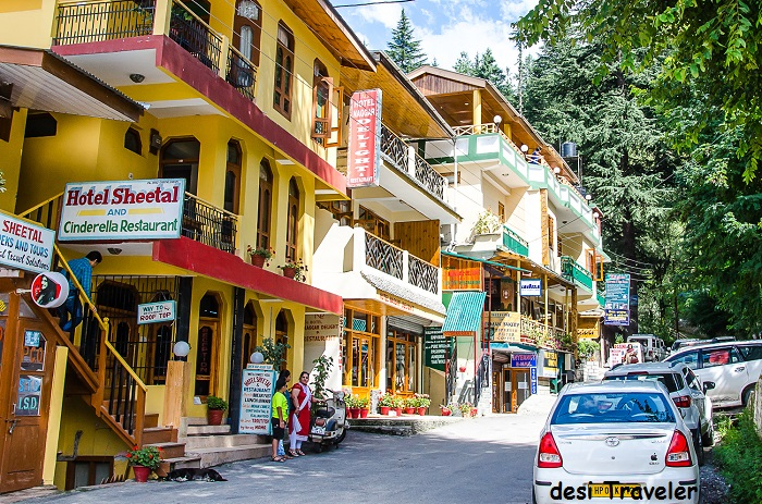 Naggar Market and restaurants