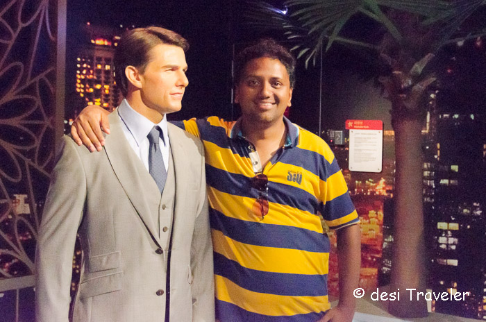 Hrish Thota Nivedith Gajapathi Tom Cruise Madam Tussauds singapore