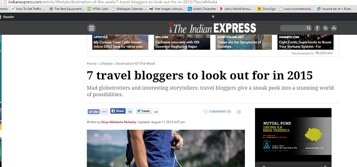 7 travel bloggers to look out for in 2015 by Indian Express