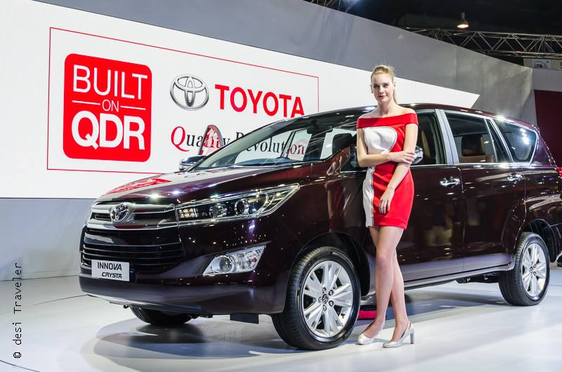 Model with Toyota Innova Crysta