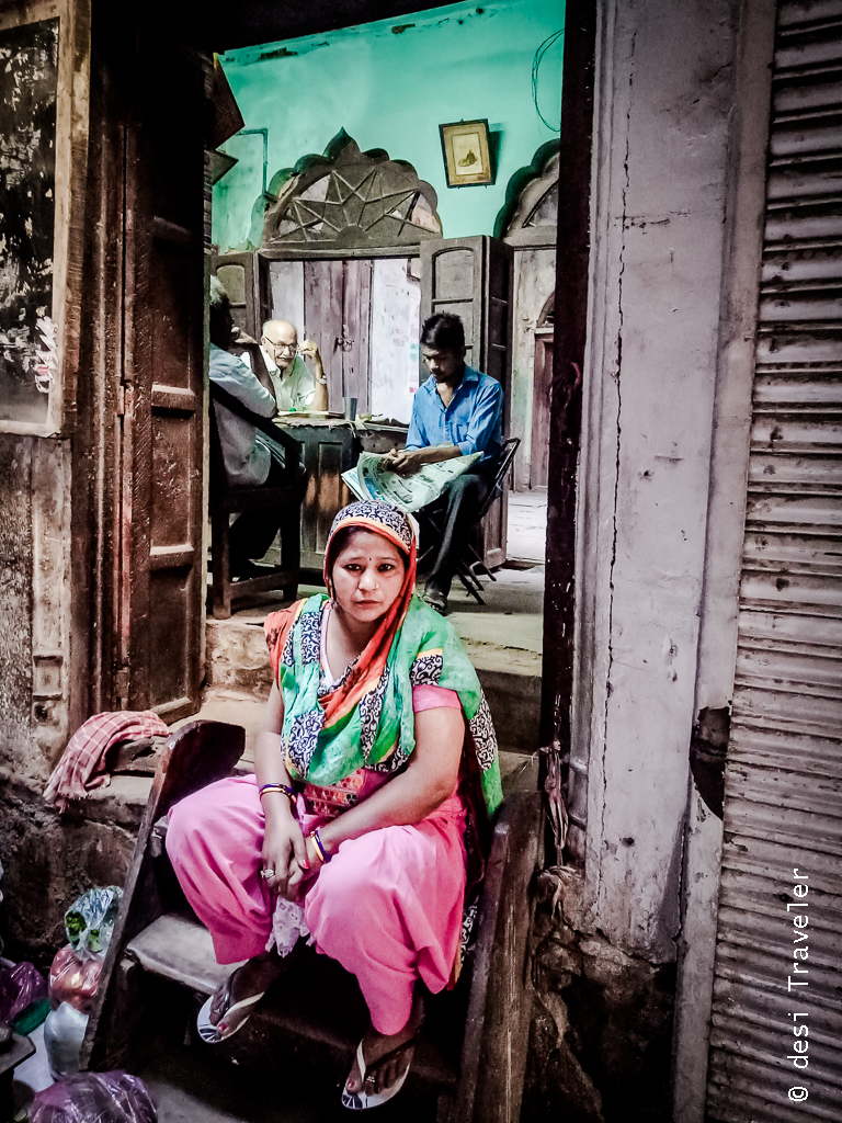 Portrait of woman Chandni Chowk
