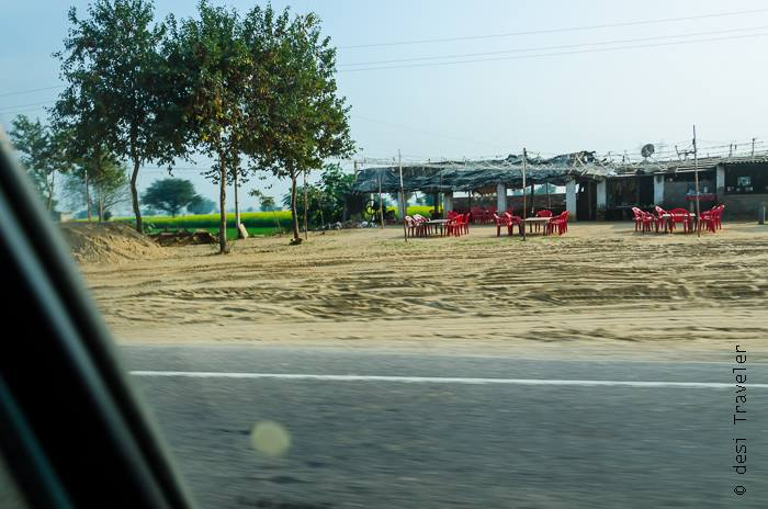 Road side dhaba on a highway in Rajasthan