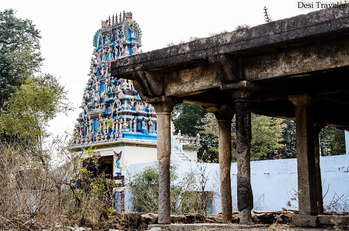 the new temple behind the old temple in Nanakramguda Village Hyderabad