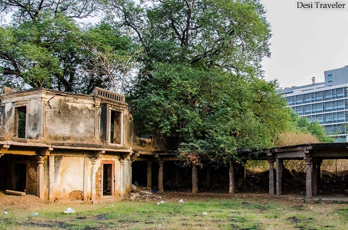 Ruins in Nanakramguda Village from the Nizam times