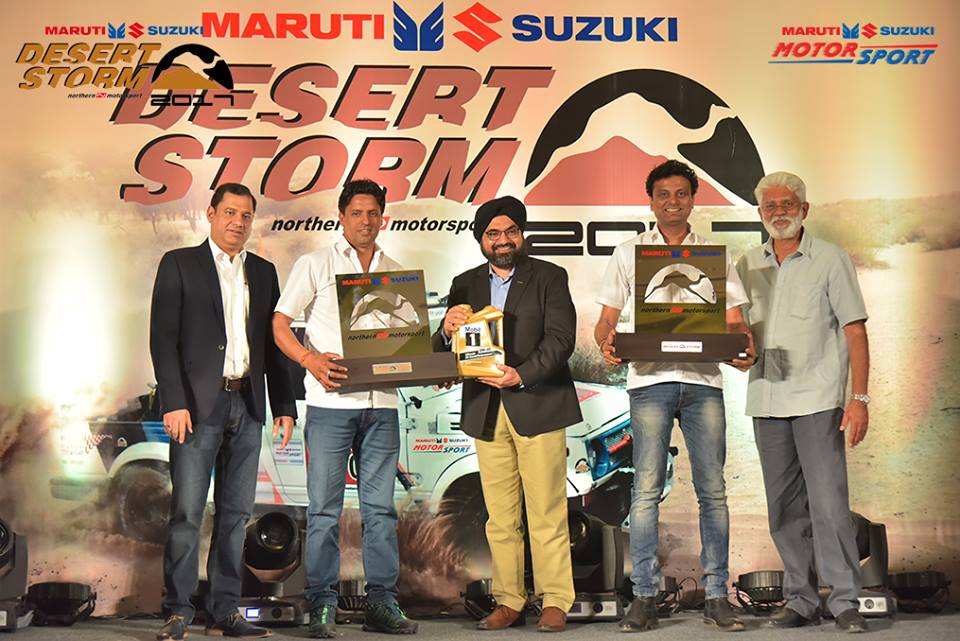 Suresh Rana and Ashwin Naik winner of Maruti Suzuki Desert Storm