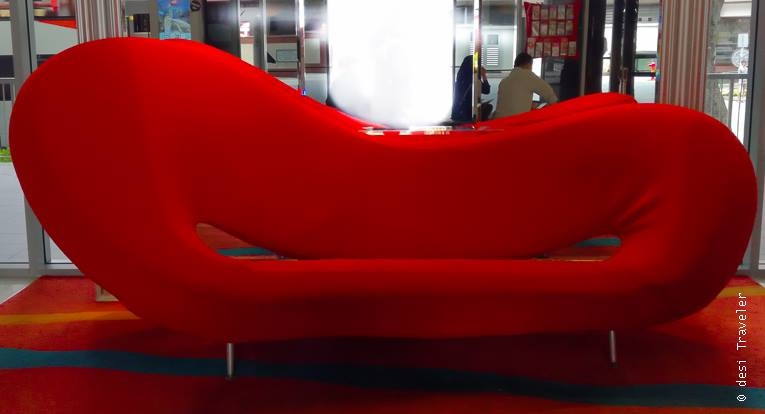 Bold Red Color Sofa Ibis Singapore on Bencoolen Review
