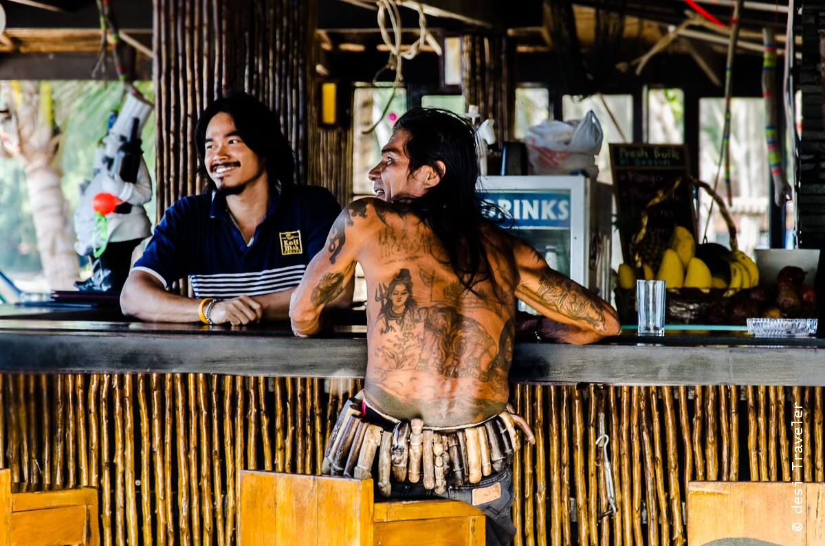 Thai man with Shiva and Elephant Tattos