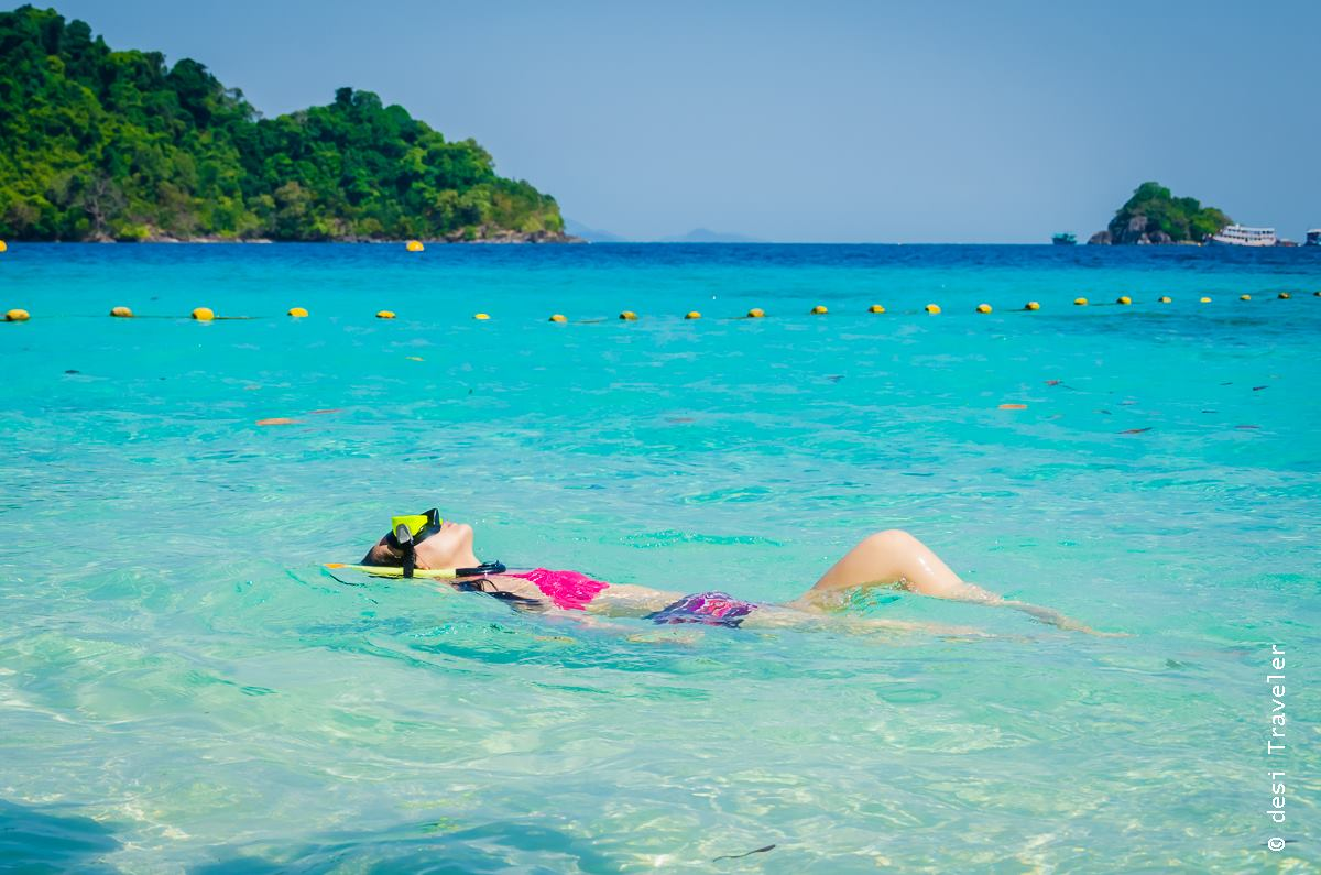 Woman snorkeling in Thailand Koh Chang