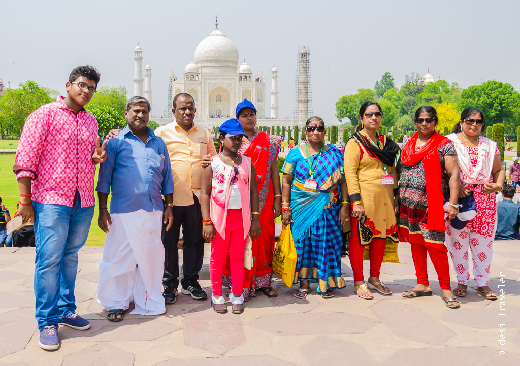 South Indian family at Taj Mahal Agra
