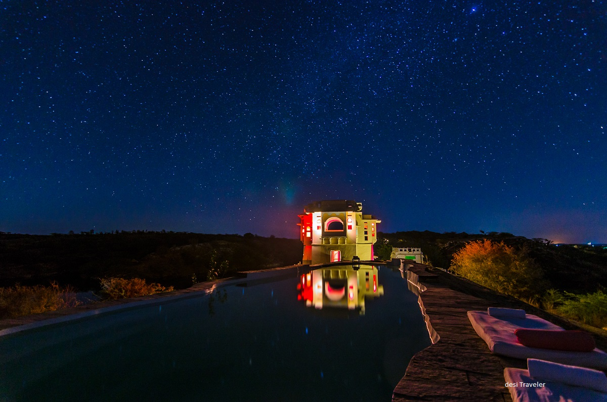 Billion Star Hotel Lakshman Sagar Rajasthan India - How to click star trails