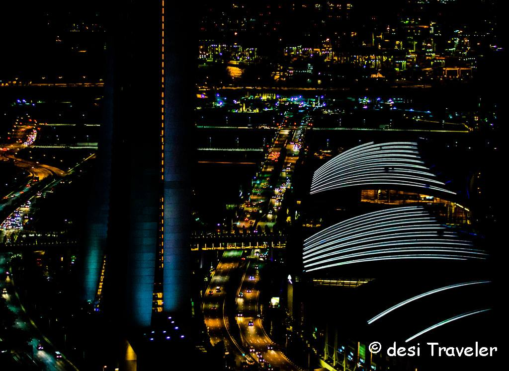 View from Singapore Flyer in Night