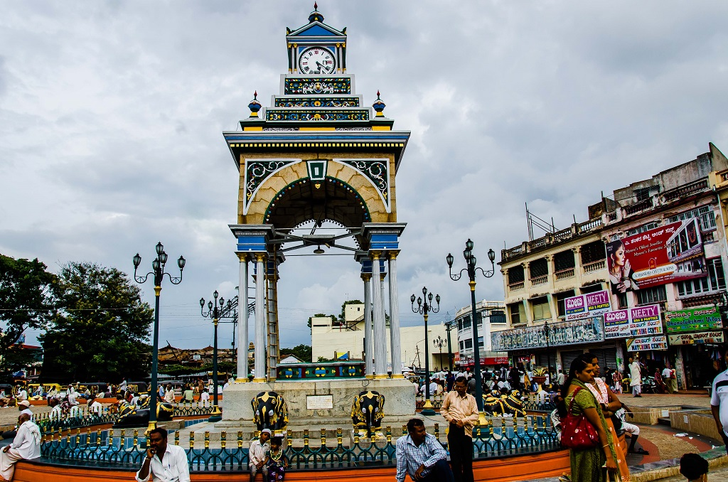 Dufferin Clock Tower at Town Square Near Devaraja Market Mysore