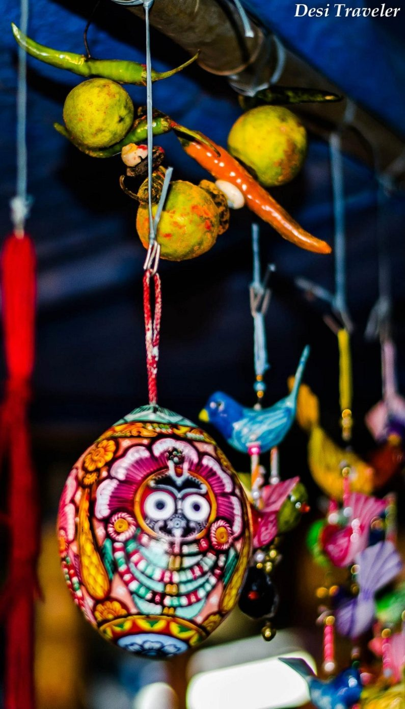 Evil Eye with an idol of Lord Jagannath