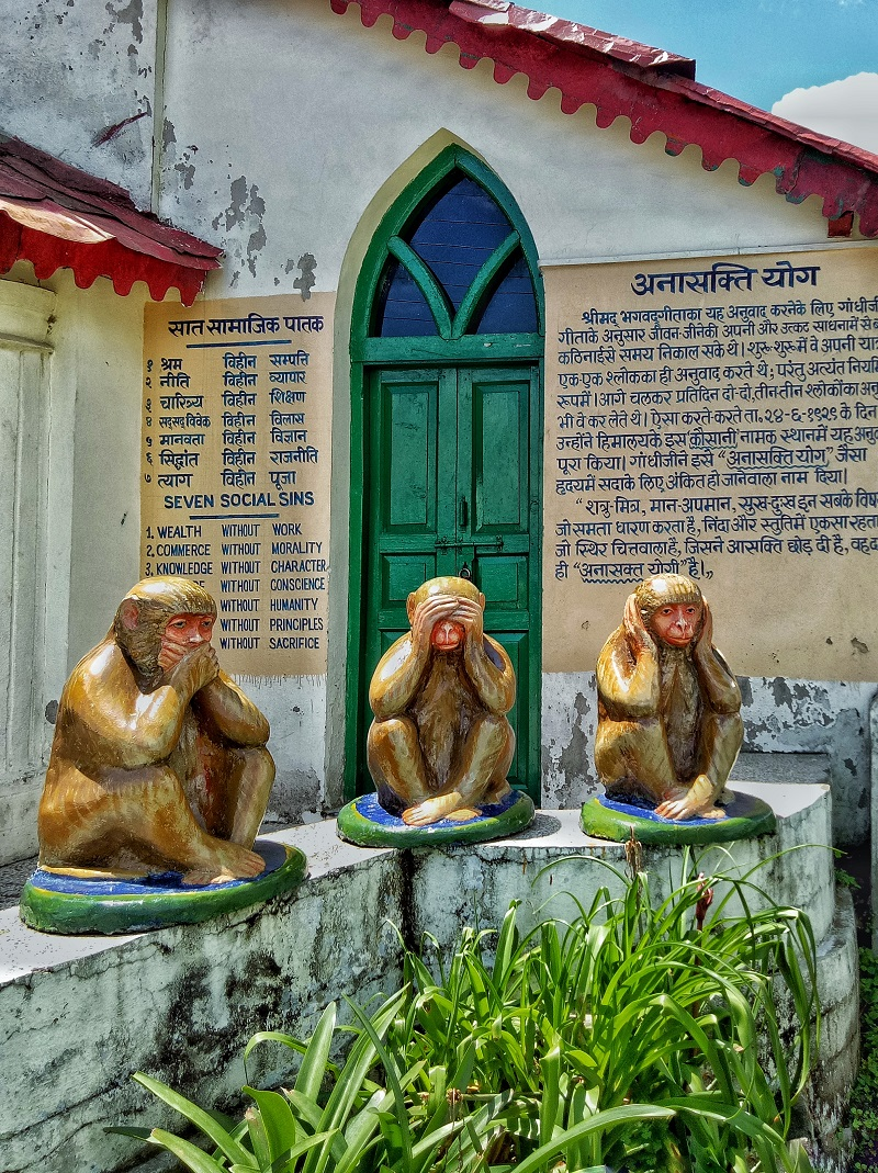 3 Monkeys of Mahatma Gandhi