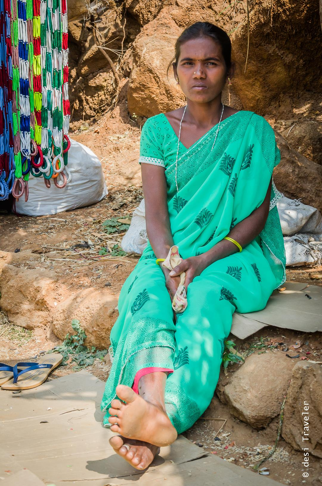 Portrait of a woman shopkeeper Araku