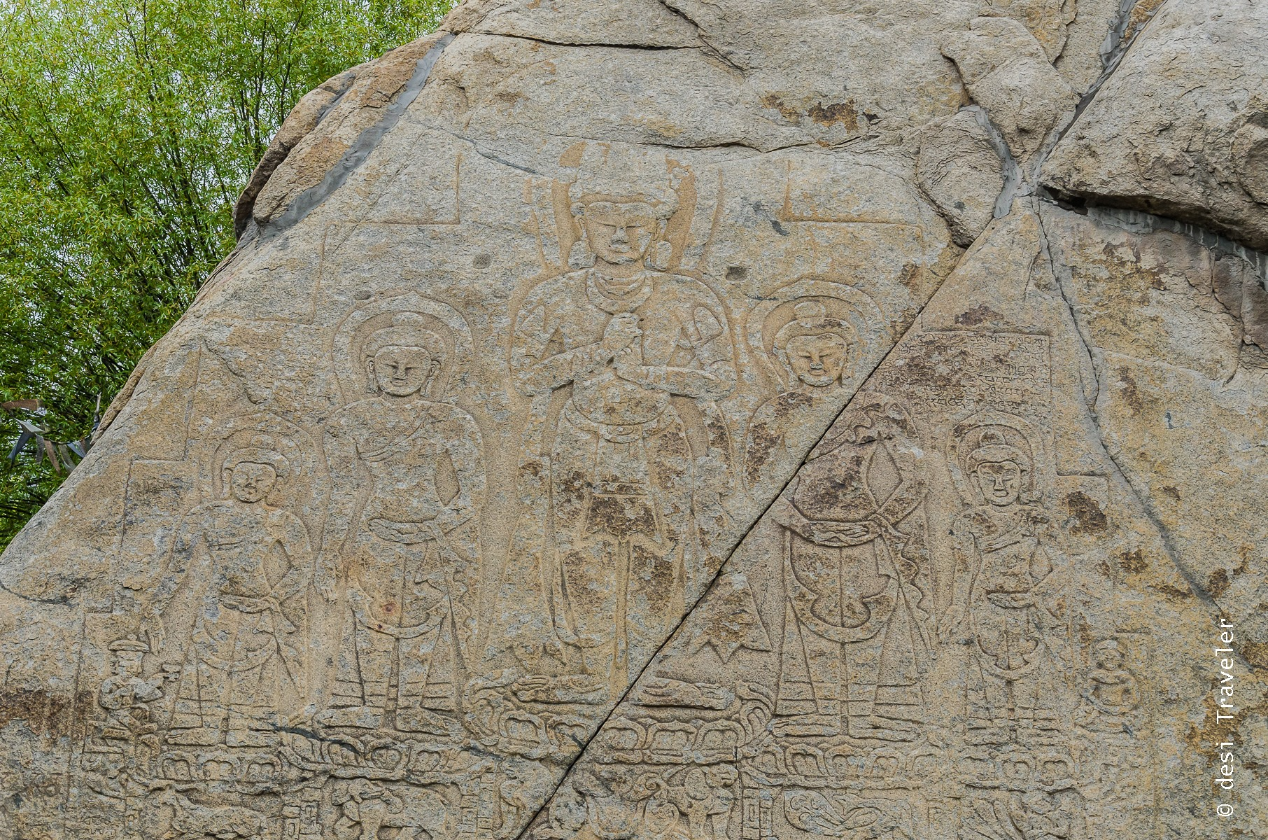 Buddha Rock Engravings Leh Manali Highway