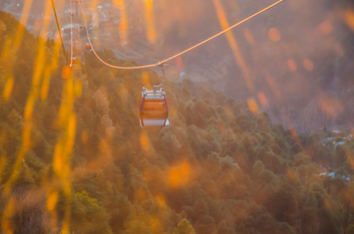 Sunset View from Gondola at Patnitop Cable Car