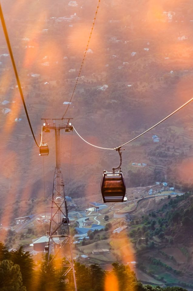 view from Cable car patnitop