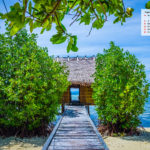 Free Download August 2020 Wallpaper Calendar-A Beach Hut in Raja Ampat Indonesia