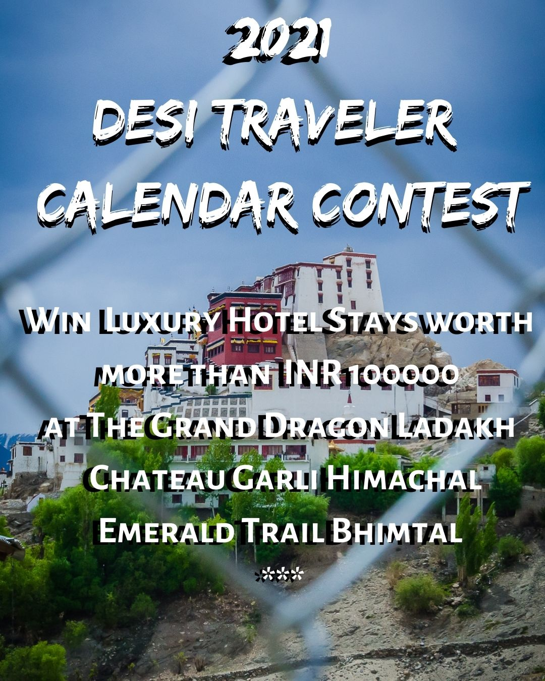 travel contest for 2021 travel calendar