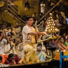 Evening Ganga Aarti at Varanasi Dashashwamedh Ghat