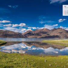 Free Download April 2021 Wallpaper Calendar - A Lake in Ladakh