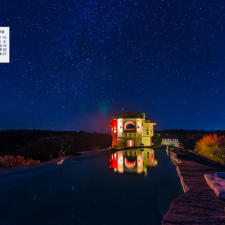 January 2018 Calendar Desktop Wallpaper - Starlit Pool Lakshman Sagar Rajasthan