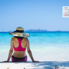 October 2018 Calendar Wallpaper - A Private Island In Koh Chang Thailand