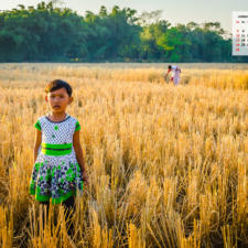 Free Download January 2021 Wallpaper Calendar - Girl in Paddy Field Assam