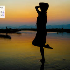 Free Download December 2018 Calendar Wallpaper - Inle Lake Myanmar