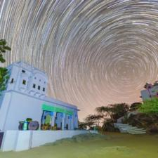 Taron Bharee Raat - Clicking Star Trails At Lakshman Sagar Rajasthan