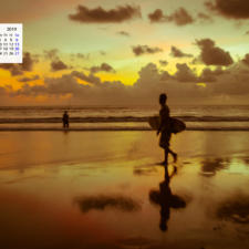 Free Download April 2019 desi Traveler Wallpaper Calendar – An Evening In Bali