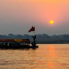 desi goes for  Varanasi Sunrise Boat Ride